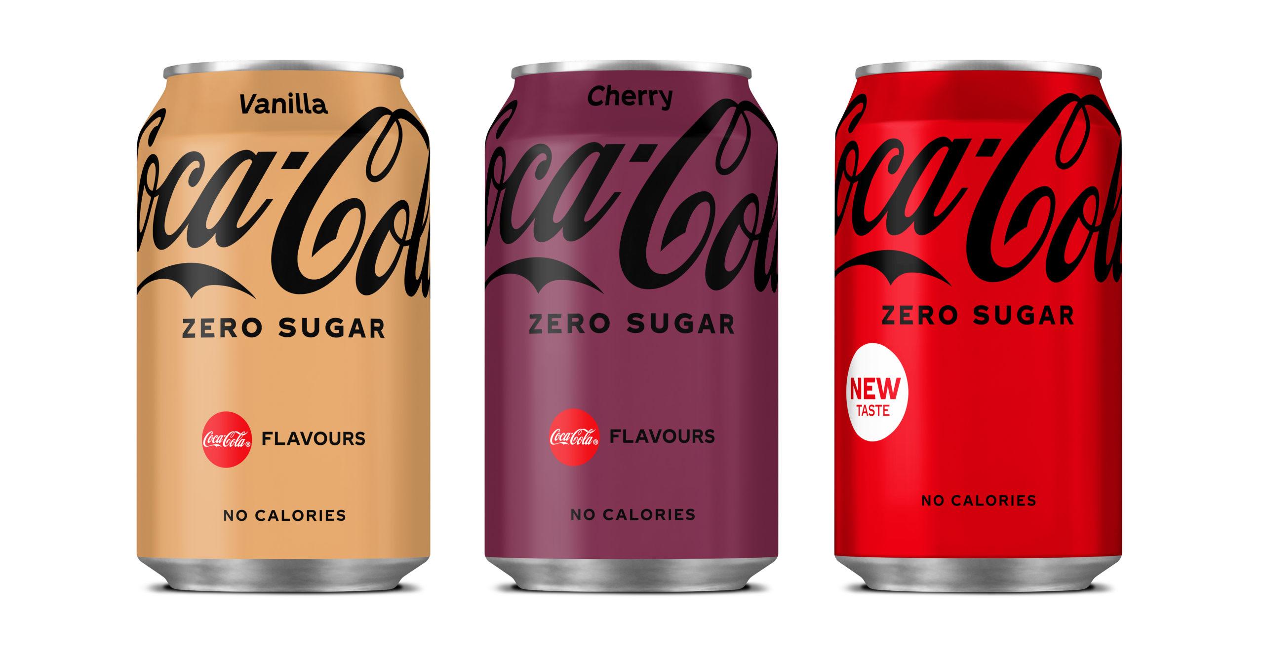 Coca-Cola Zero new can designs